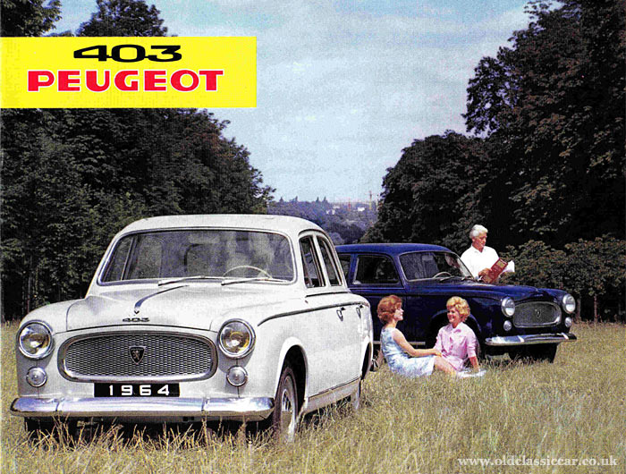 Brochure cover for the later 403s