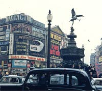 Cars in Piccadilly Circus, 1964