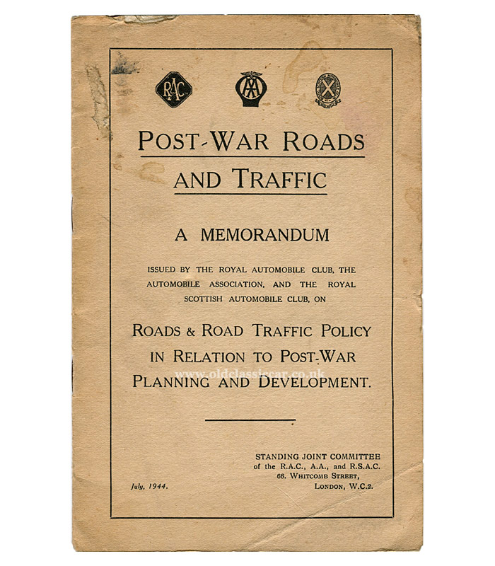 Roads and traffic post-WW2