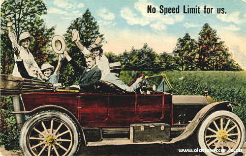 Postcard about speed limits