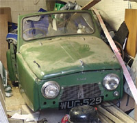 The Reliant as it is today in storage