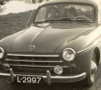 Front view of a 1954 Renault