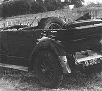 The car as seen from behind