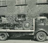 Chassis loaded onto a lorry