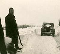 Rover P1 in the snow