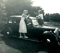 Two ladies test the running boards of their P2