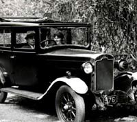An earlier Rover 10/25 Riviera