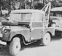 Series 1 Land Rover recovery vehicle