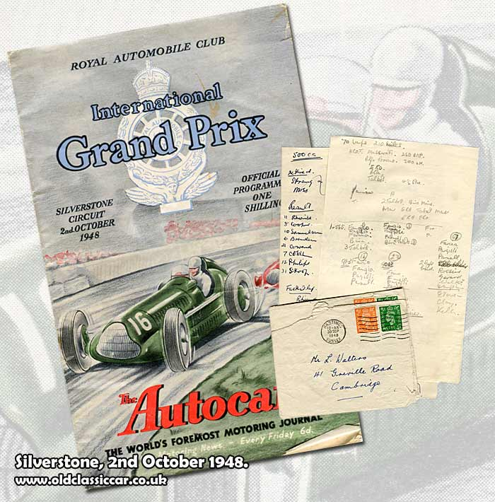 Cover of the Silverstone programme