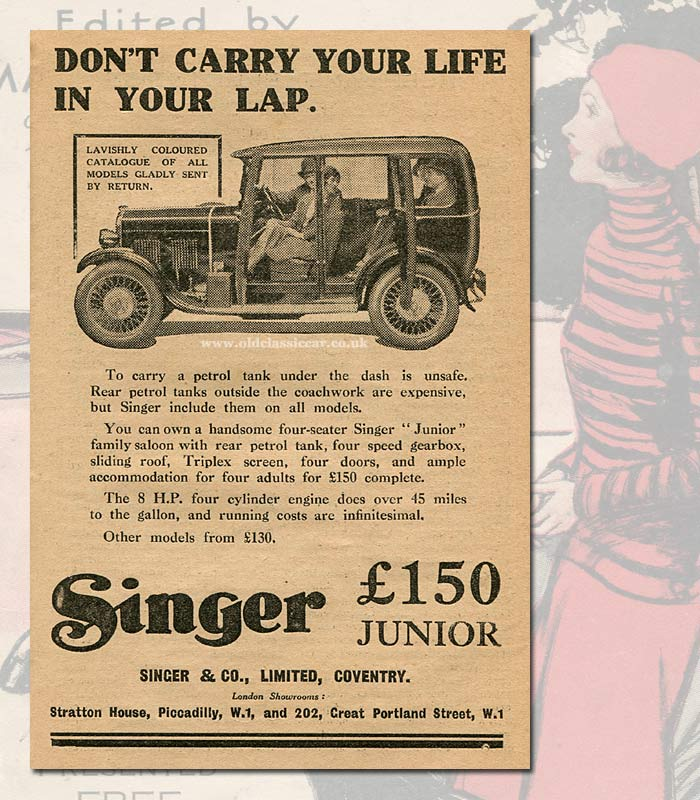 Advert for the 1931 Singer Junior