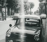 A black Standard 8 car