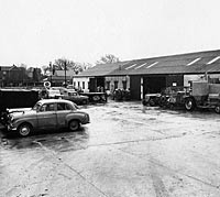 Standard 10 at Wadham's Garage in the 1950s