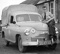 David with his pickup in Nicosia