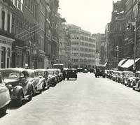A street in London, in 1954