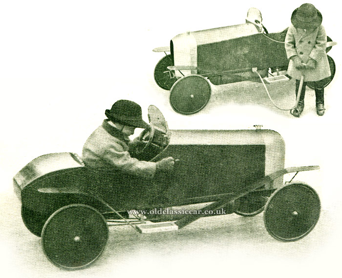 Compressed air car for children
