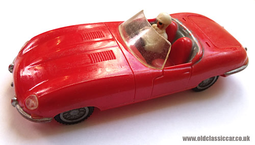 The red E-Type toy