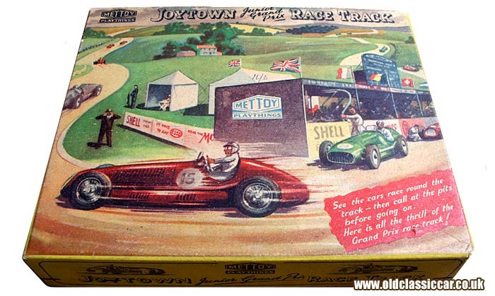 Cover of the Mettoy Joytown Grand Prix game