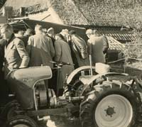 The tractor being demonstrated