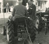 Rear view of both tractors