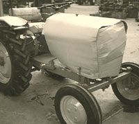 New tractor at the factory