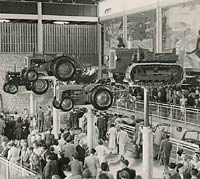 Ferguson & Nuffield tractors at a trade show