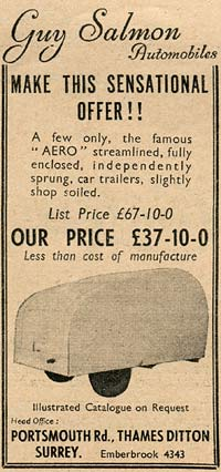 Advert for the Aero trailer