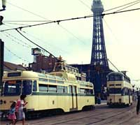Coronation car tram in action