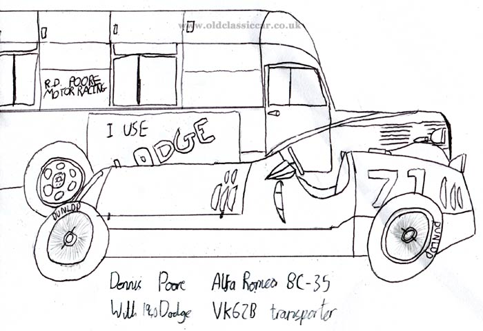 Drawing of the Dodge transporter