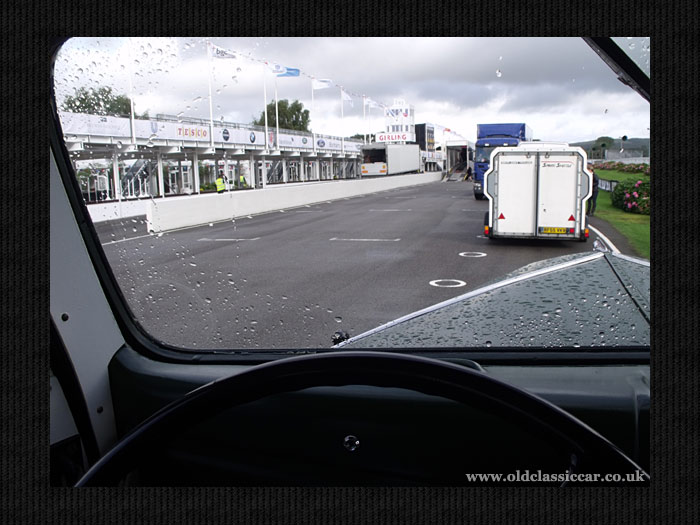 Cab view of the start/finish straight