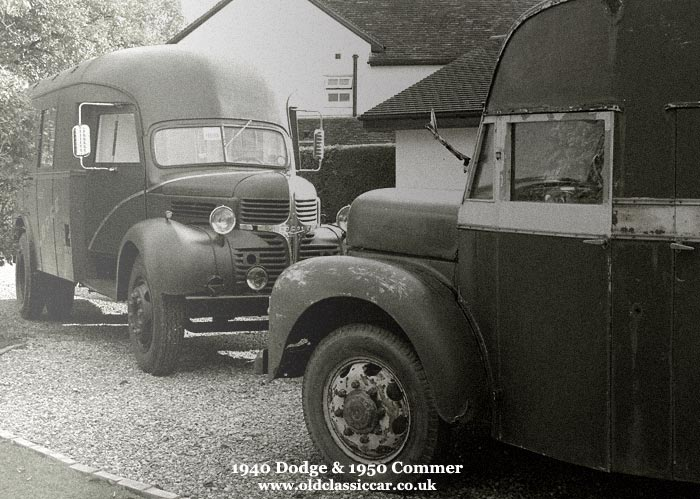 The Commer and Dodge together