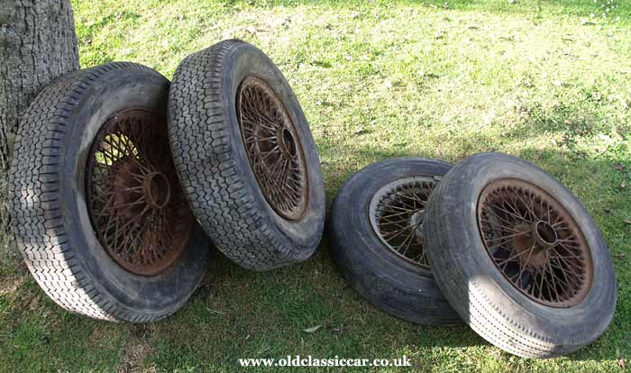 The Allard Sphinx's original wheels