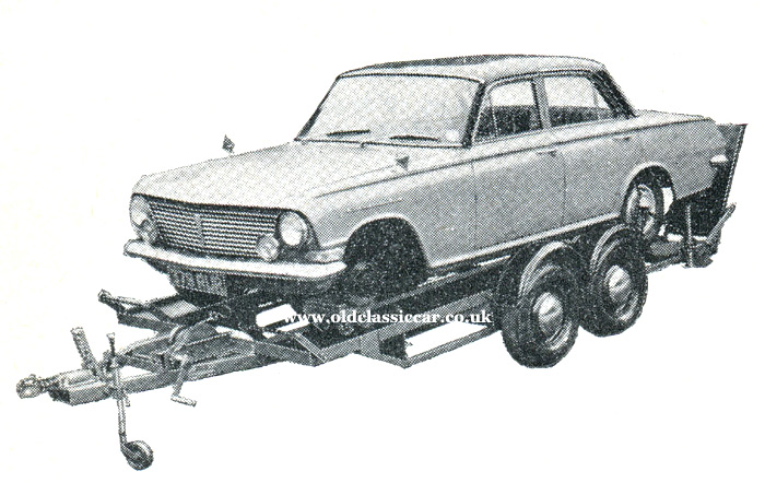 Vauxhall Cresta PB on another trailer