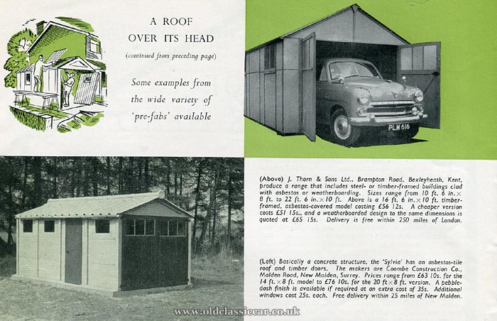 1950s domestic car garages