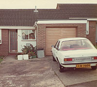 Rear view of the 1980 white Mk1