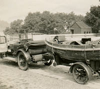 The boat being towed by the Vauxhall