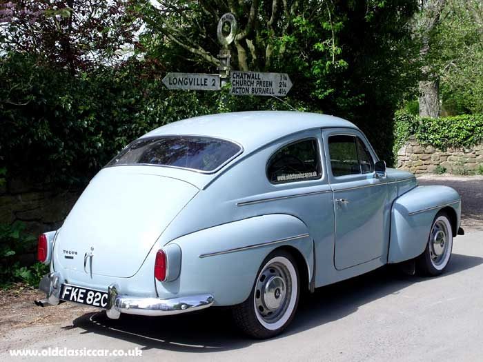 The Volvo PV544, and an ancient fingerpost road sign
