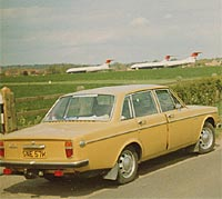Volvo 144S and VC10s at RAF Abingdon