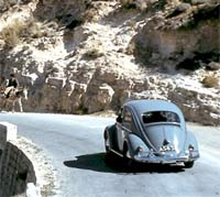 VW spotted driving a road in Cyprus, 1959