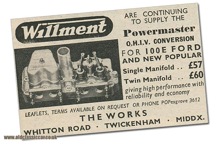 Willment advertisement from 1959