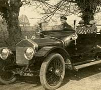 Out for a drive in the circa 1914 Wolseley