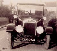 Front view of the Wolseley car