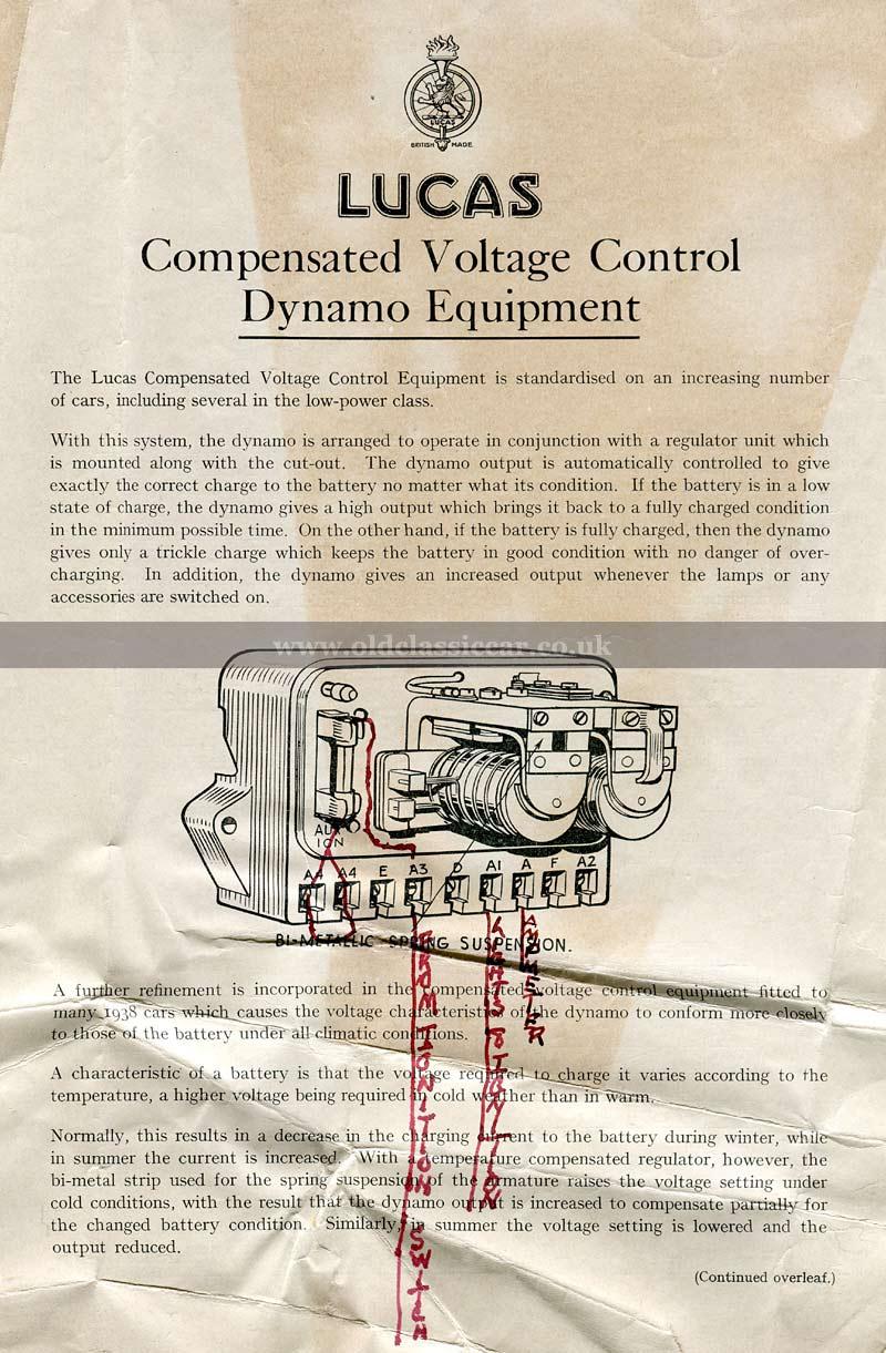 Lucas voltage regulators 1930s