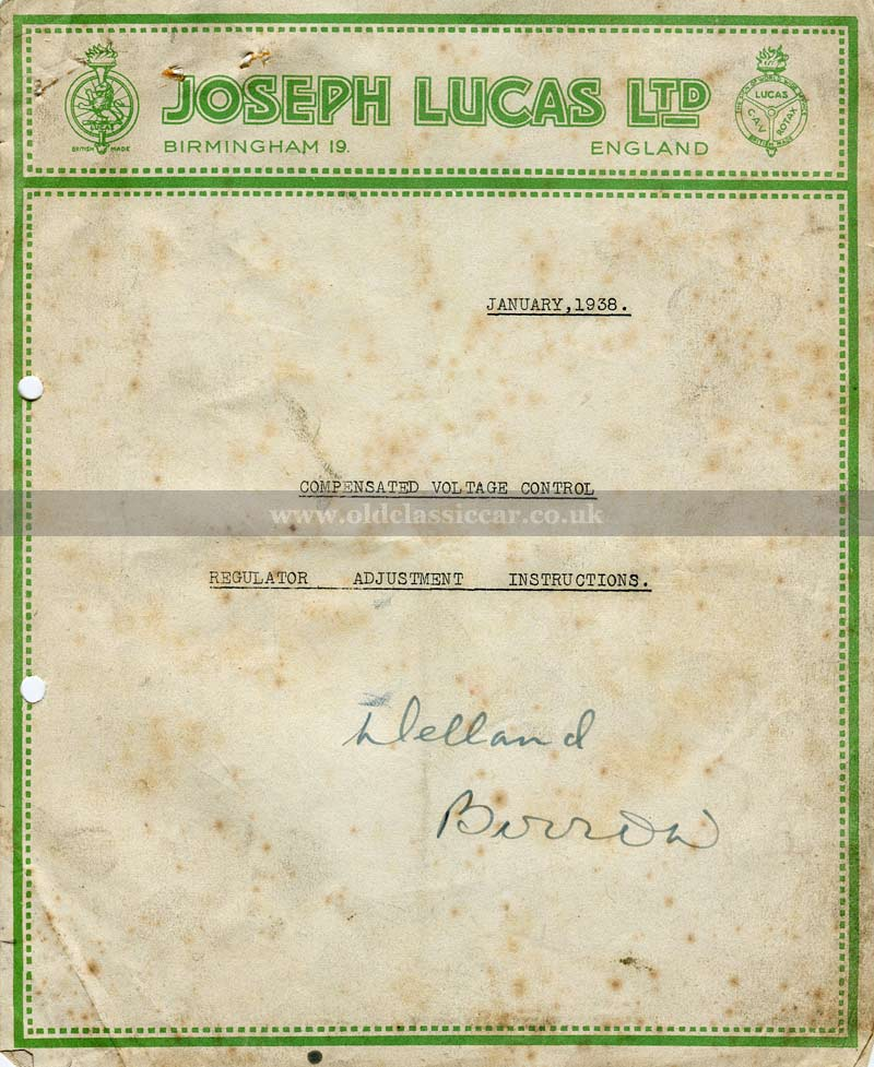 Joseph Lucas Ltd - cover