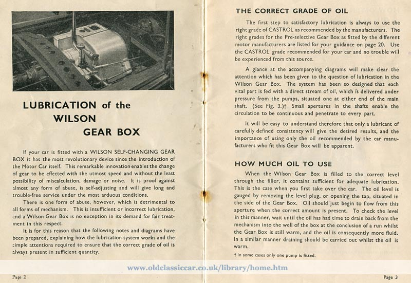 Pre-selector gearbox instructions page 2 and 3