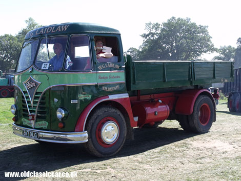 A short wheelbase Foden queues up to enter the display arena at a public show.