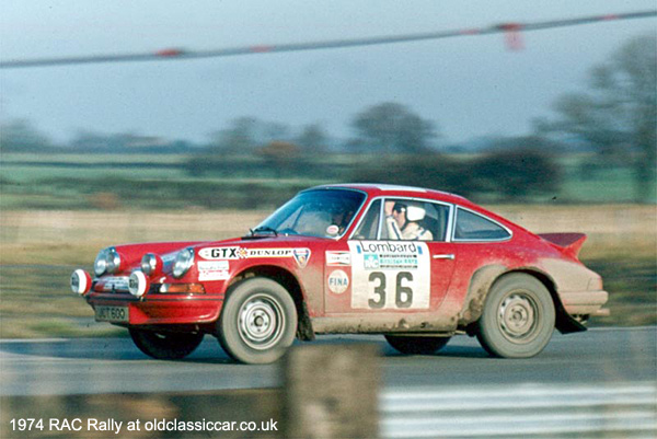 Porsche 911 Carrera RS rally car