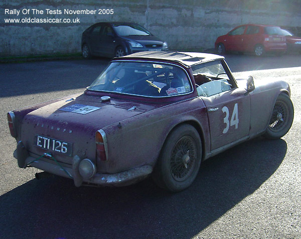 Triumph Tr4 Car Photo Rally Of The Tests November 2005 Picture