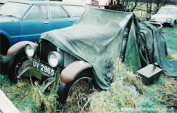 Old MG under a cover