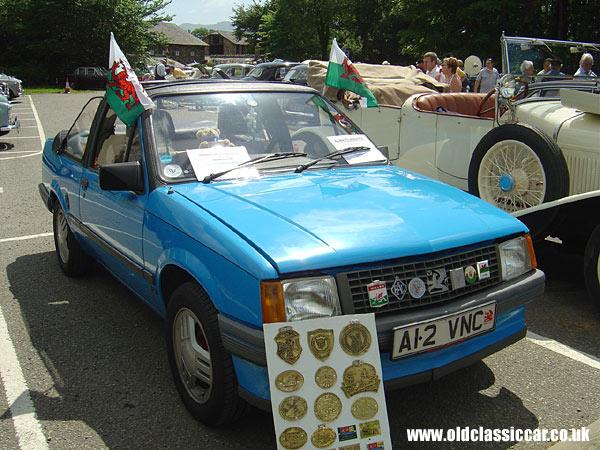 Vauxhall Nova. Vauxhall Nova convertible