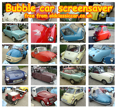 Bubble car & micro-car screensaver